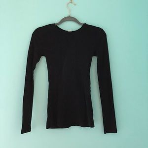 Forever 21 black long sleeve top